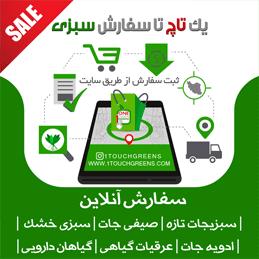 فروش آنلاین سبزیجات تازه 1touchgreens